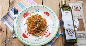 Tris di spaghetti vegetariano - IdeeRicette.it